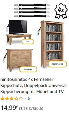ninitosninitos 4er Kippschutz