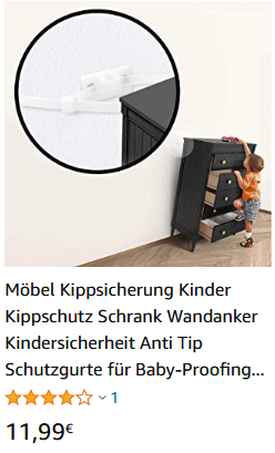 Kippschutz Schrank Wandanker