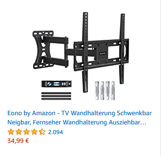 Eono by Amazon - TV Wandhalterung Schwenkbar Neigbar