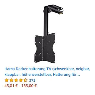 Hama Deckenhalterung TV (schwenkbar, neigbar, klappbar)