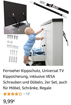 TV Kippsicherung Fernseher Kippschutz